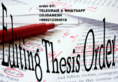 hire a thesis editing